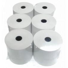 Лента для принтеров печати чеков 57, 5 термо (запайка из 6 шт.), намотка 60 метров, Лента для РРО, доставка, гарантия, любой способ оплаты