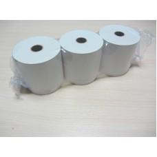 Лента для принтеров печати чеков 80 термо (запайка из 3 шт.), намотка 80 метров, Лента для РРО, доставка, гарантия, любой способ оплаты